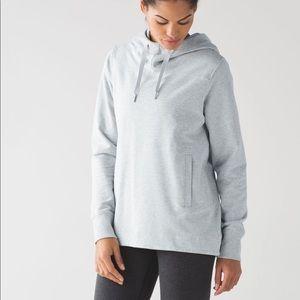 Lululemon Split Pullover Heathered Light Grey
